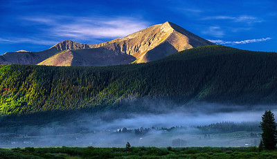 Colorado, Crested Butte,  Morning Fog