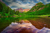 Colorado, Aspen, Maroon Lake, Reflection