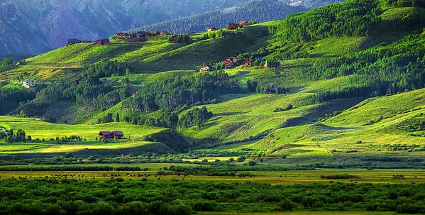 Colorado, Crested Butte, Sunset