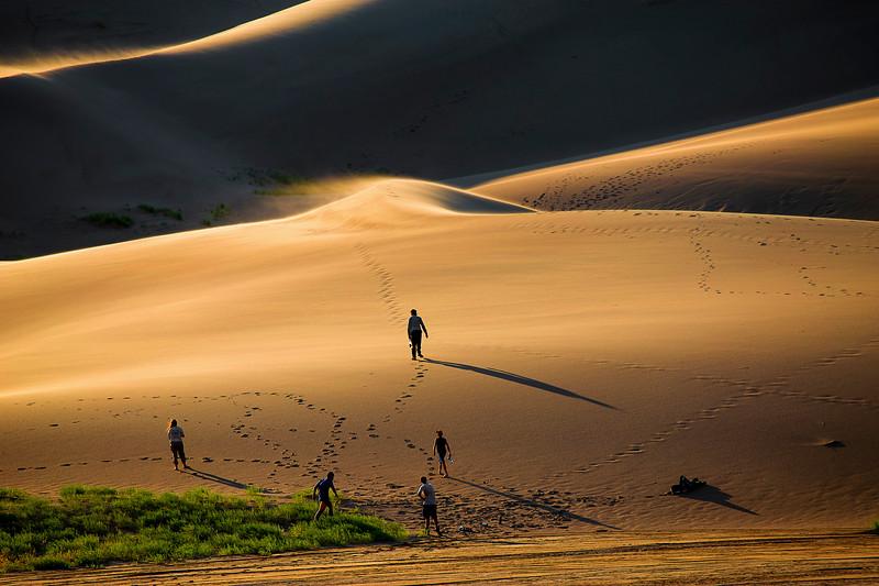 Colorado, Great Sand Dunes National Park, Sunset