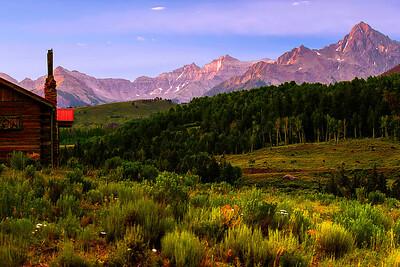 Colorado, Ridgway, West Dallas Creek Road , Mount Sneffels