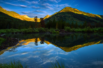 Colorado, Crested Butte, Slate River, Reflection