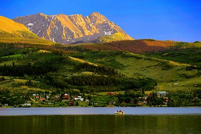 Colorado, Silverthorne, Gore, Range, Blue River, Green Mountain Reservoir, Sunset