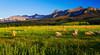 Colorado, Ridgway, Last dollar, Road , Mount Sneffels, Sunset