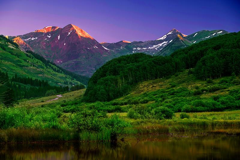 Colorado, Crested Butte, Slate River, Sunrise, Reflection