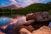 Colorado, Rocky Mountain National Park, Bear Lake, Sunset