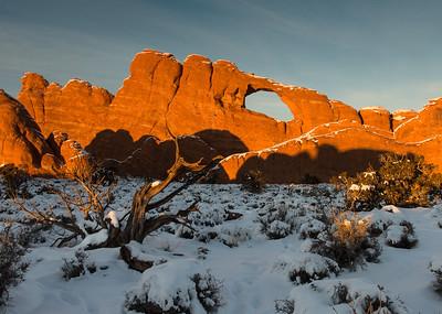 Skyline Arch in Snow