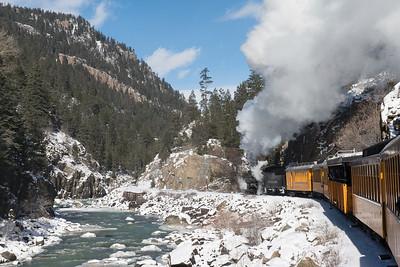 Durango Silverton RR along the Animas River