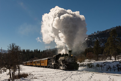 We spent a day photographing the train from various vantage points along the route.