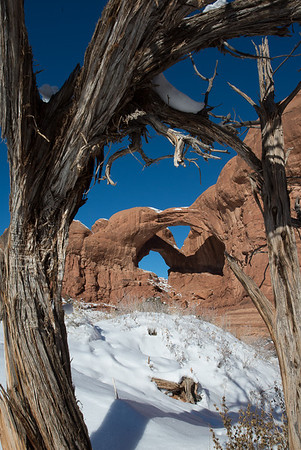 Double Arch - Arches NP. Honorable Mention, N4C Travel Print, October 2014.