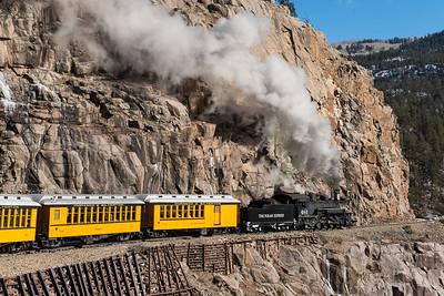 Durango Silverton RR in Cascade Canyon