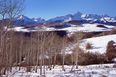 Winter Pastoral - San Juan Mountains near Ouray