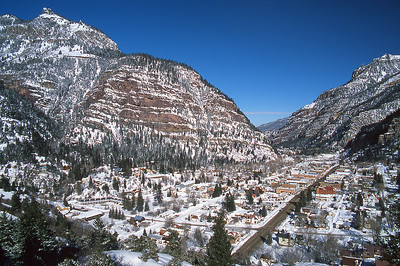 Ouray under a blanket of snow