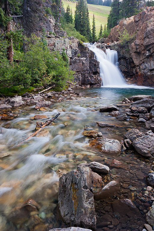 (WC-08036)  Falls along the South Fork of the Crystal River in Gunnison National Forest.
