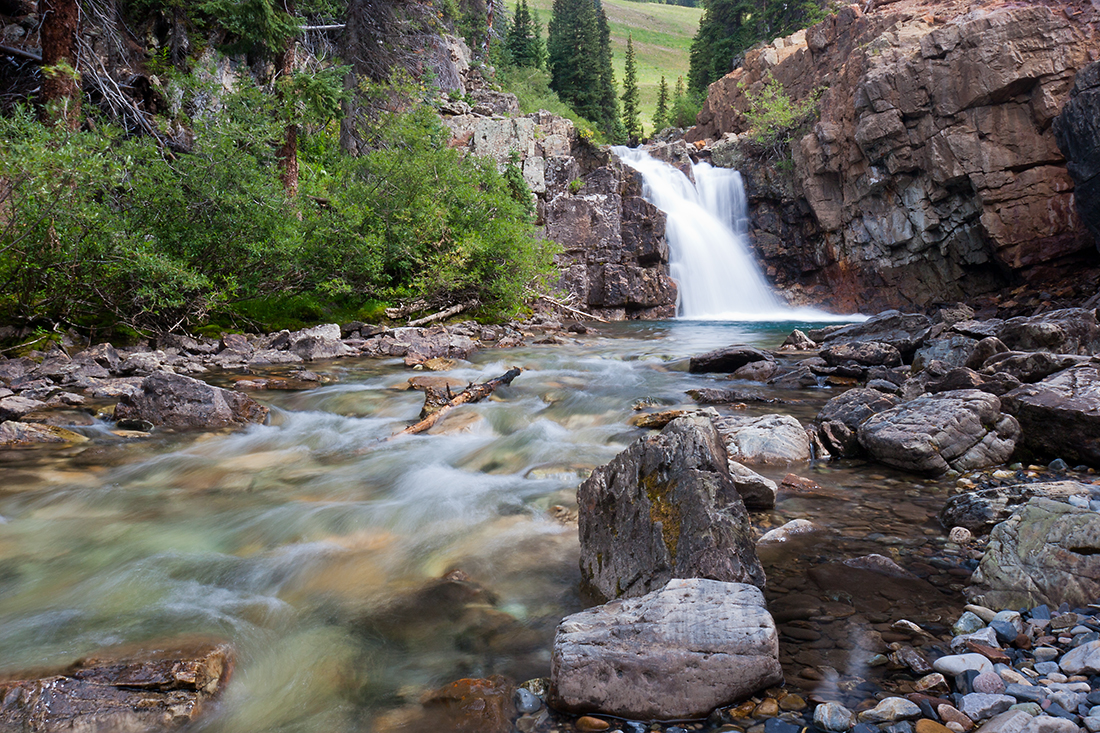 (WC-08047)  Falls along the South Fork of the Crystal River in Gunnison National Forest.