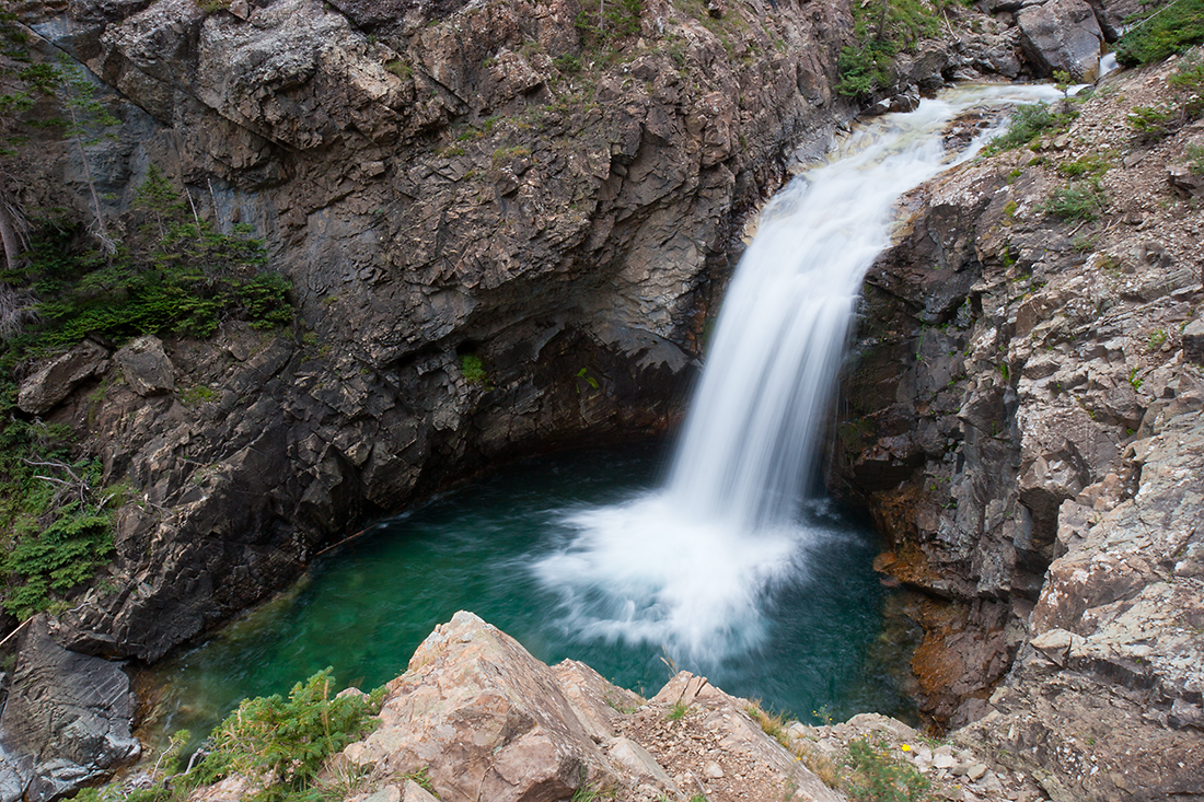 (WC-08070)  Devil's Punchbowl and falls along the South Fork of the Crystal River.