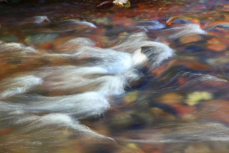 (MB-09031)  Maroon Creek detail in Maroon Bells-Snowmass Wilderness.