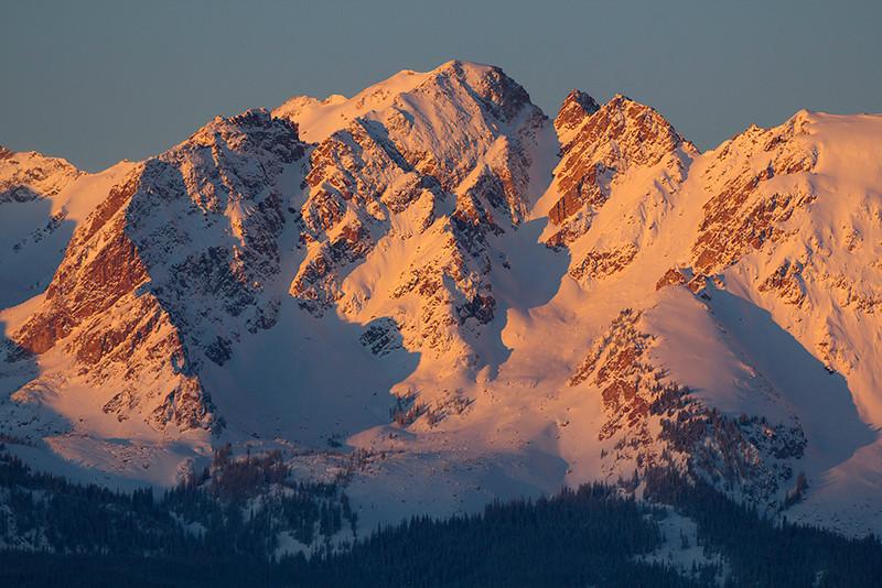 (MG-2542)  Gore Range Peaks at sunrise