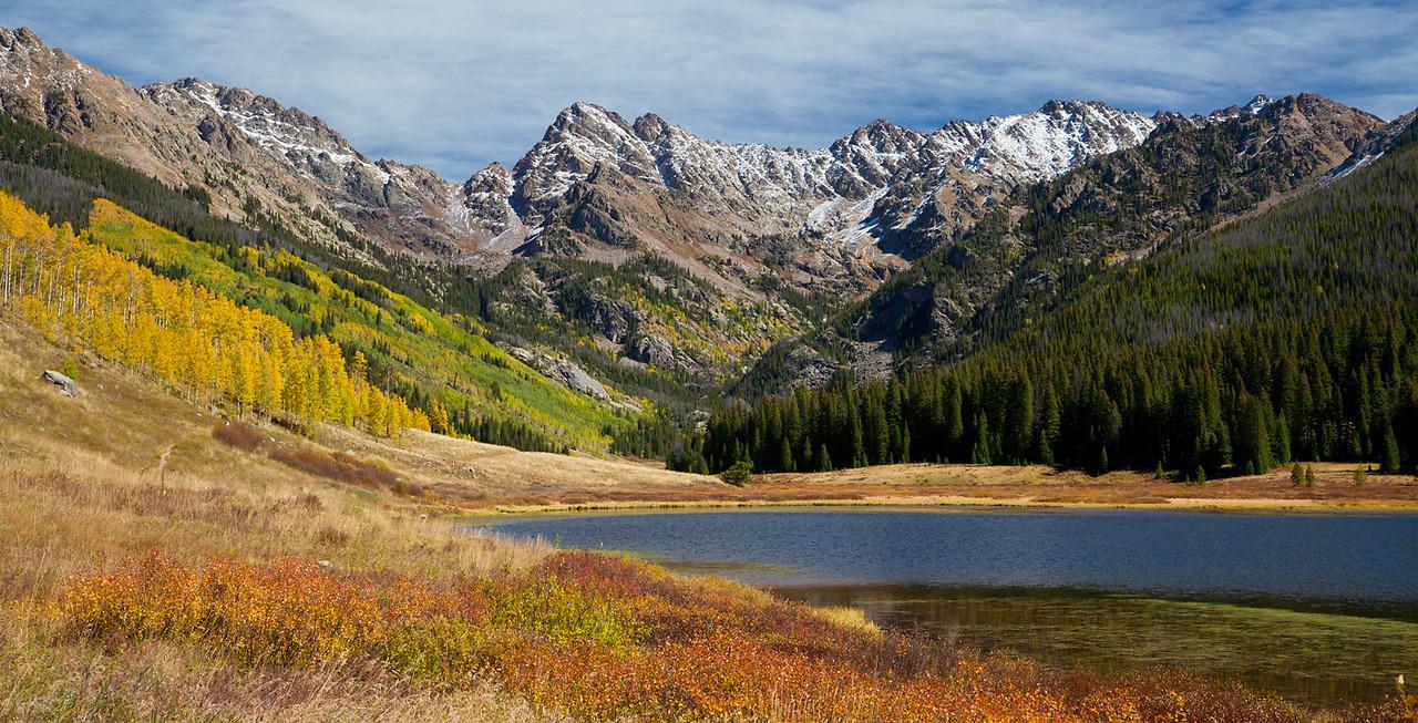 (NO-13377)  Piney Lake and Gore Range Panorama