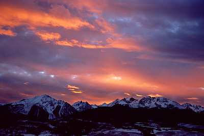 (N70-0401)  Gore Range Sunset