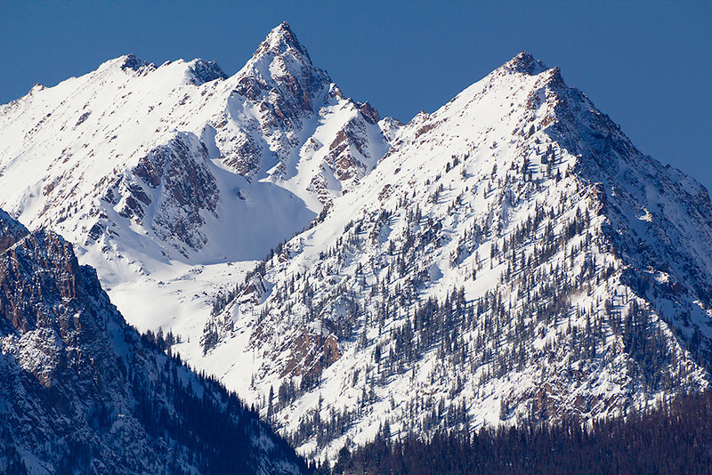 """(MG-2578)  """"Little Himalayas"""" - Gore Range peaks in winter"""
