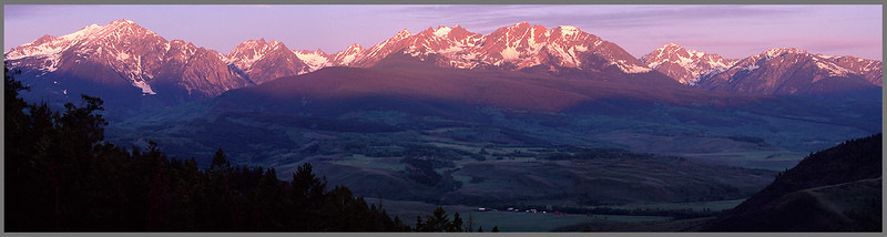Gore Range Panorama 1 at sunrise