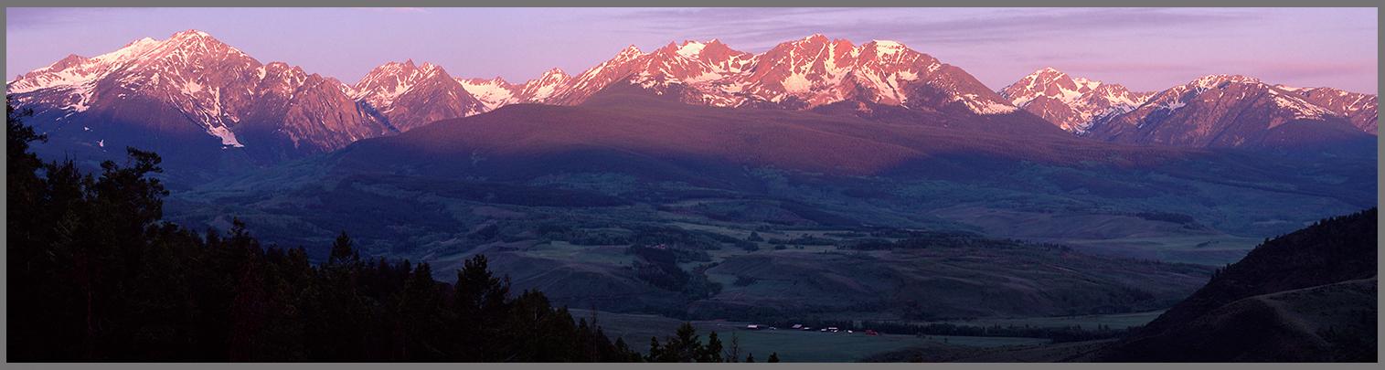 Gore Range Panorama 1 at sunrise