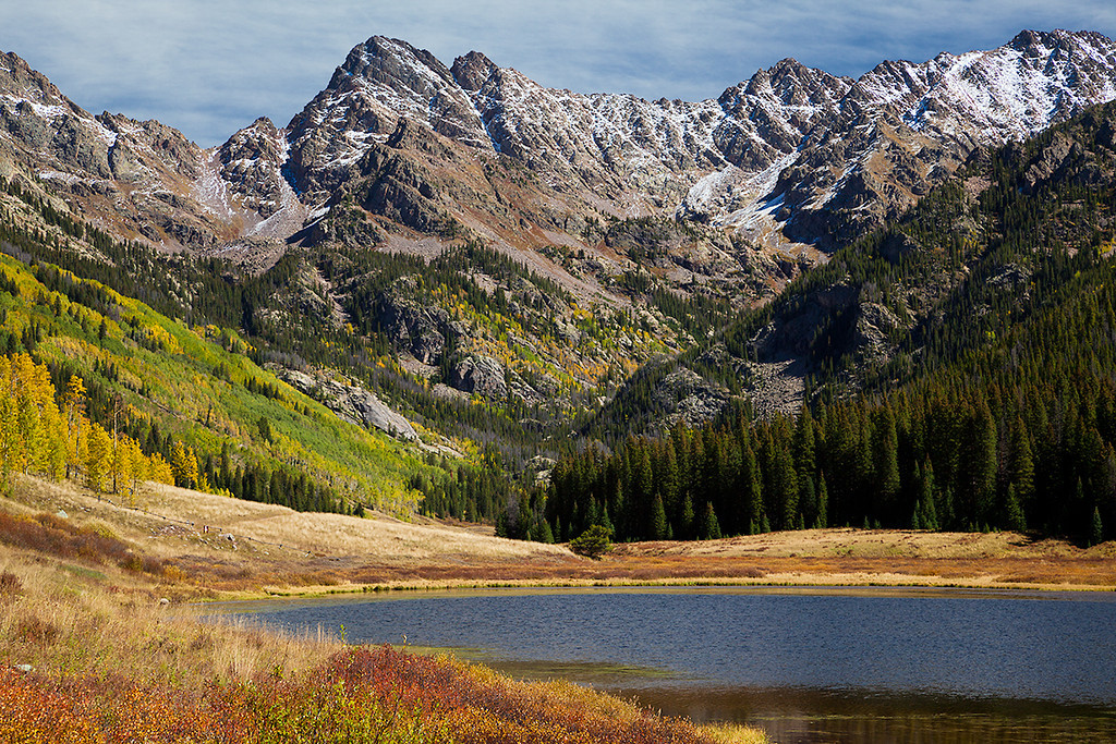 (NO-13378)  Piney Lake and the Gore Range
