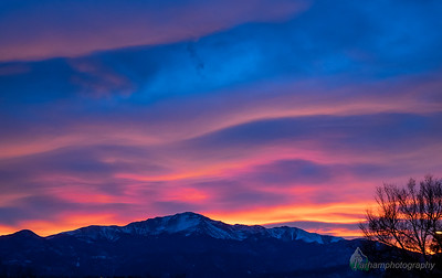 Pikes Peak and Winter Sunset Sky (PP-20115)