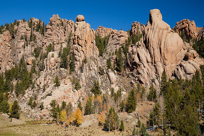 (PP-12120)  Granite rock forms above Cathedral Park along Gold Camp Road near Victor