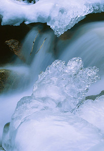 (B023)  Ice detail - North Cheyenne Creek