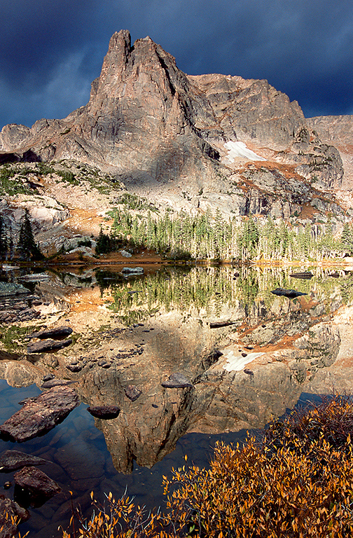 (RM-0505)  Notchtop Mountain reflected in Lake Helene