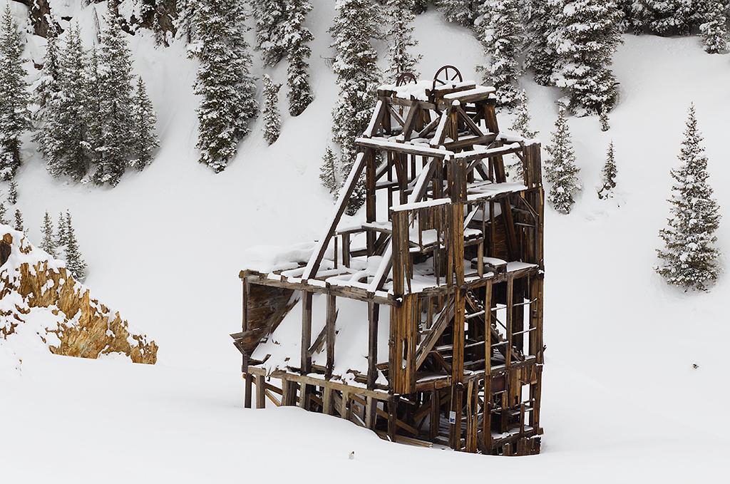 (SJ-11056)  Mining Relic On Red Mountain Pass