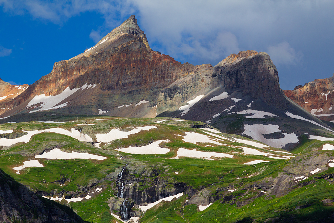 (IMG-1670)  13,760' Golden Horn rises above Ice Lake Basin near Silverton.