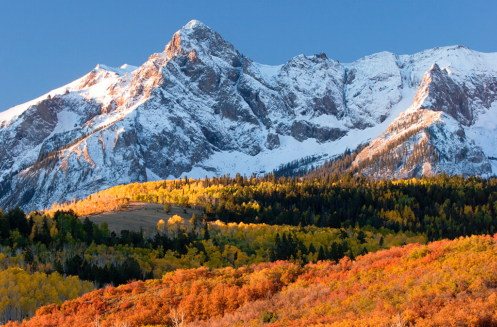(SN-0810)  12,987' Hayden Peak on an autumn morning - Sneffels Range.
