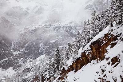 (SJ-11020)  Snowstorm Above Ouray