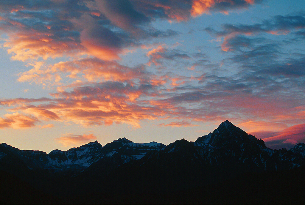 (C021)   Sneffels Range at sunset.