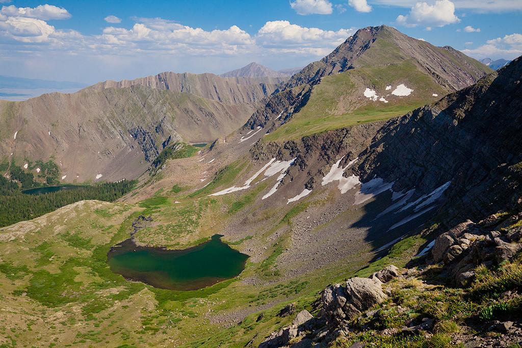 (SC-11010)  Hermit Pass view of Horseshoe Lake