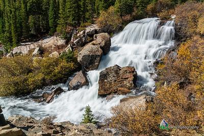 Falls along Monte Cristo Creek - Autumn (CM-19535)