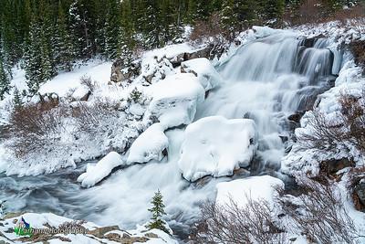 Falls along Monte Cristo Creek - Winter  (CM-19553)
