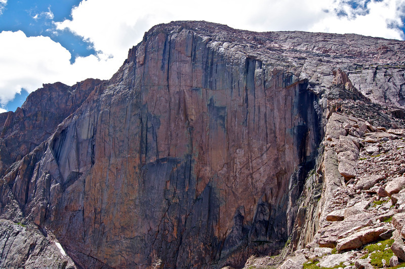 """Looking across the """"Diamond"""" from Chasm View.  Can you spot the four groups of daredevil climbers on the cliff face, or the other photographer at the chasm ledge?"""