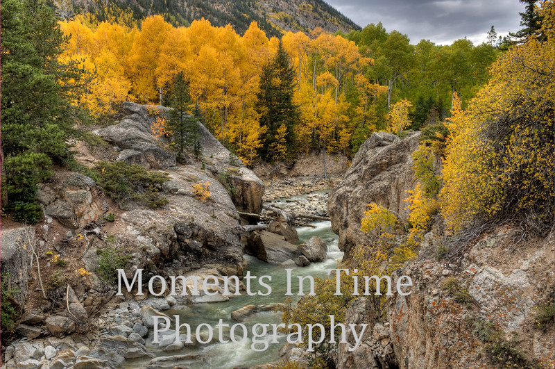 Canyon at Twin Lakes with autumn gold
