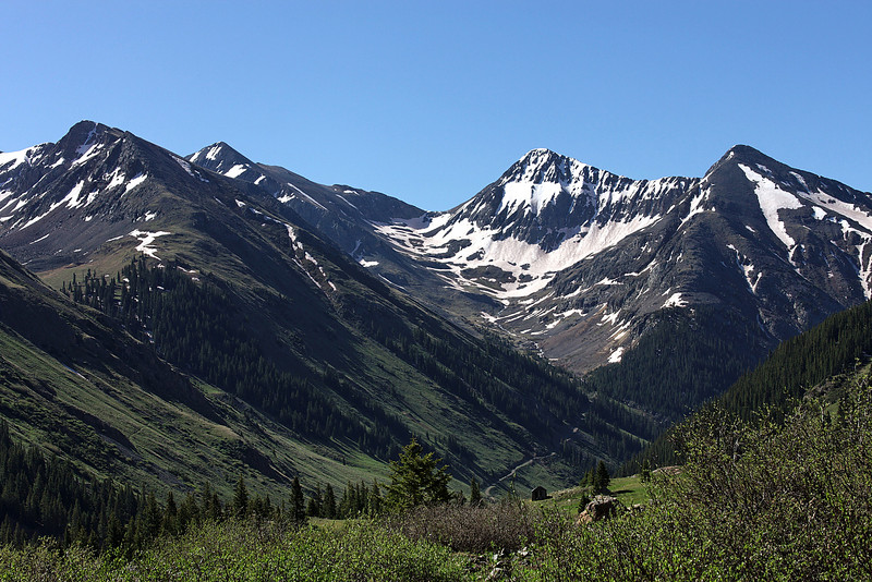 This is looking back towards Silverton on the road up to Animas Forks.