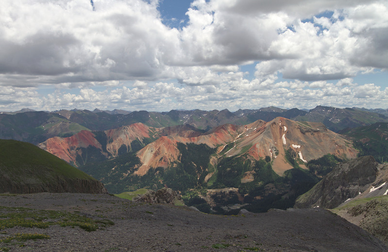 Red Mountains from the lookout just below Imogene Pass.