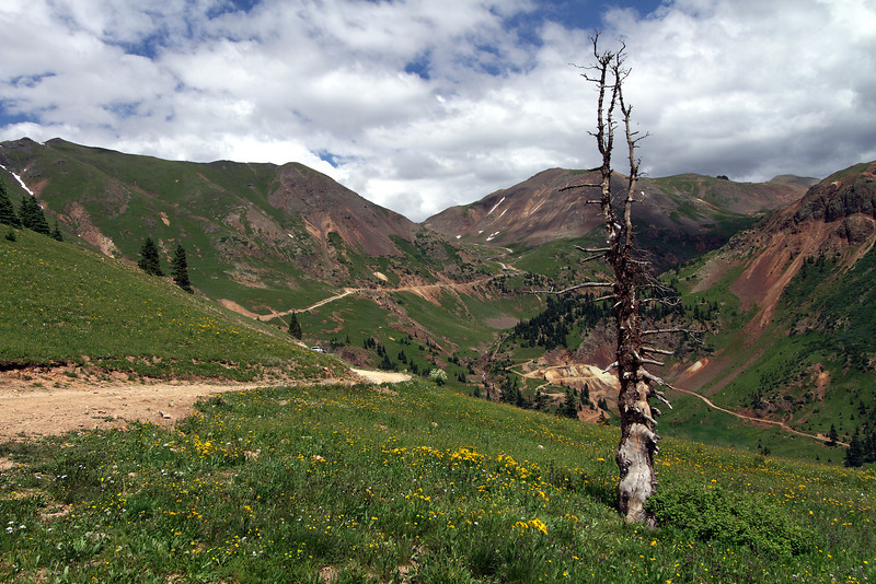 On the Corkscrew Trail looking back at Hurricane Pass
