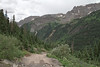 Looking back the trail up to Yankee Boy Basin