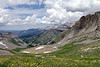 Looking back while ascending towards Imogene Pass