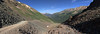 Ophir Pass panorama early in the morning looking down the shelf road towards Ophir.