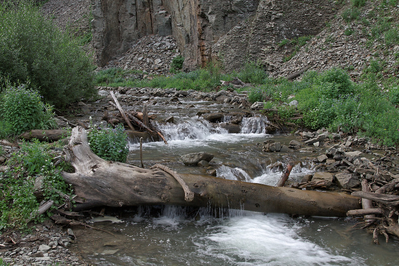 Creek below the waterfall on Maggie Gulch..