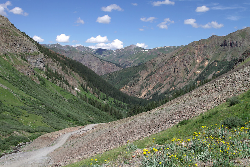 At the top of Minnie Gulch looking back down the way we came up.